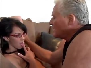 Nerdy Spinner In hefty Glasses Is Gonna boink senior Silver father free sex