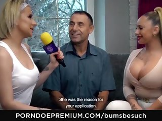 BOOTIES BESUCH - Huge-Chested German pornography starlet Dana Jayn tears up mature on the up fanboy