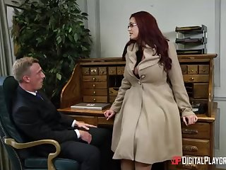 Alessandra Jane and Emma are having a 3some in their office, instead of mode their job