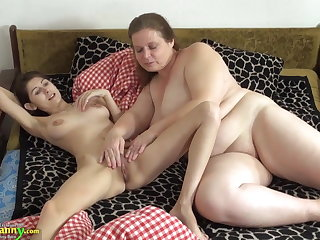 OldNanny Venerable and young woman skunk and toying