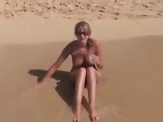 X-rated Cute Big Boobs Girl Open-air Fuck On Beach 01