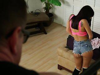Tattooed shut down Latina babe Gina Valentina pounded missionary hardcore