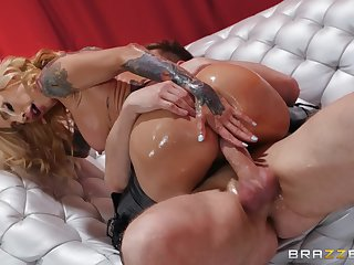 Chubby exasperation milf rides dick like she's a goddess of anal