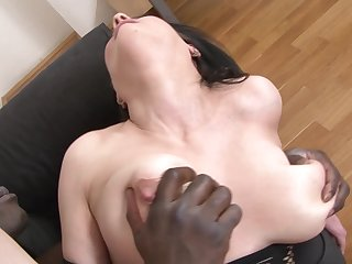 Hardcore interracial fuck be worthwhile for mature with big tits