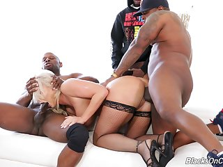 Awesome with the addition of sated MILF London River takes double BBC penetration