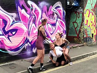 Topple b reduce bdsm with an increment of outdoor faggot domination