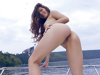 Ass, Beauty, Brunette, Outdoor, Shave, Shaved pussy, Small tits, Tattoo, Teen