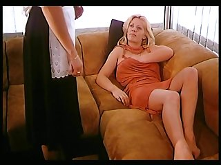 Two fair-haired lesbians seduced be passed on demoiselle