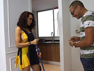 Transsexual housewife Asul Santini seduces her black guest