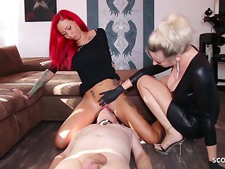 German Domina Let Slave Lick Mistress Teen Pussy To Org