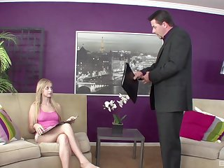 Nothing makes this young blonde happier than a proper cock to show her chum around with annoy real restrict