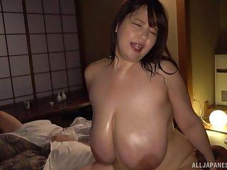 Chubby Japanese model Yuuki Iori with large unpractised boobs fucked