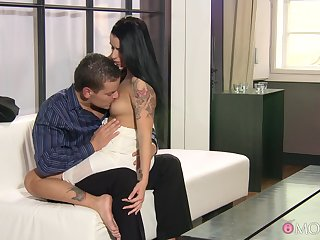 Man's hard wood suits the hot brunette in more than enough XXX scenes
