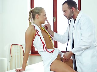 Kinky blonde be responsible for Ivan Sugar-coat fucked with all of her holes. HD