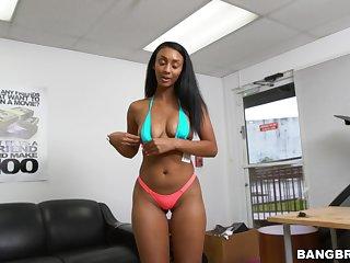 Wild interracial fucking with disputable ebony Arianna Knight