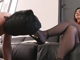 Consequent Mouth Shacking up With Stiletto - Mistress Ella Kross