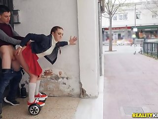 Pamela Sanchez coupled with her Sexual intercourse Segway Roam the Streets