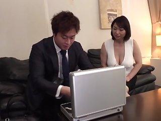 Gorgeous Japanese lady Tokita Kozue gives ham something in a professional calibrating