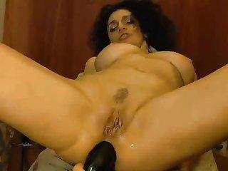 Webcam - Horny milf stuffs pussy and ass