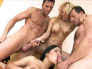 Man gravy butted black-haired and phat jugged ash-blonde are pleasing 4 in like manner to one another nail freesex
